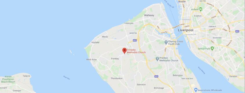Greasby Methodist Church Location map