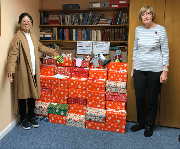 Greasby Methodist Church Shoebox appeal
